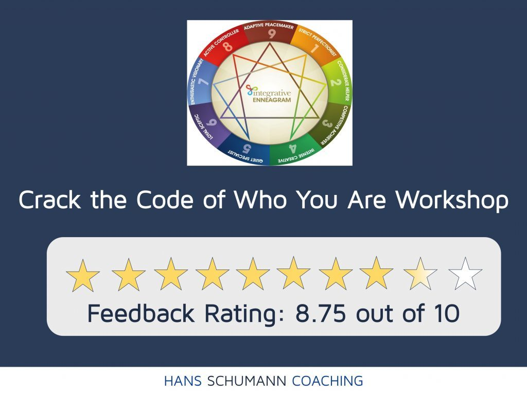 Star rating for Crack the Code of Who You Are Workshop by Life Coach London Hans Schumann