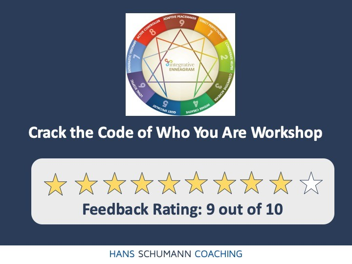Enneagram workshop by Life Coach London Hans Schumann